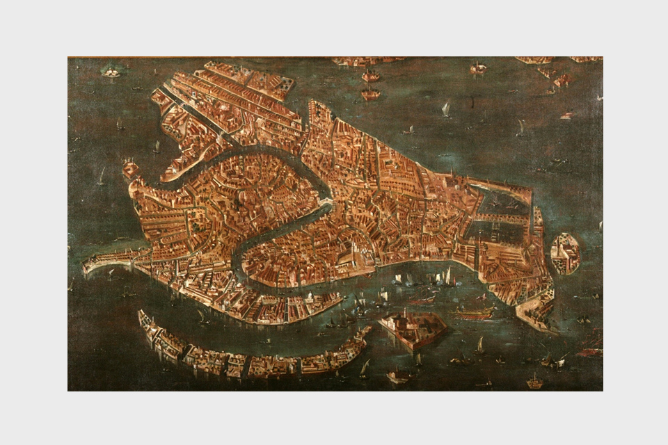 A Bird's-Eye View of Venice, 1740