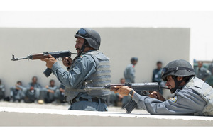 Recruits in training at the Helmand Police Training Centre in Lashkar Gah