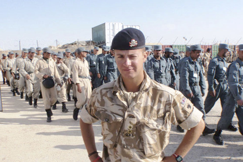 Lieutenant Antony Raine in Afghanistan [Picture: Crown Copyright/MOD 2010]