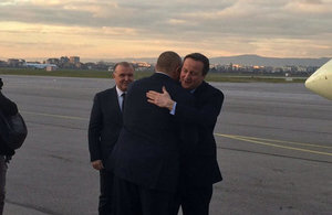 Prime Minister David Cameron arrived in Bulgaria on 3 December.