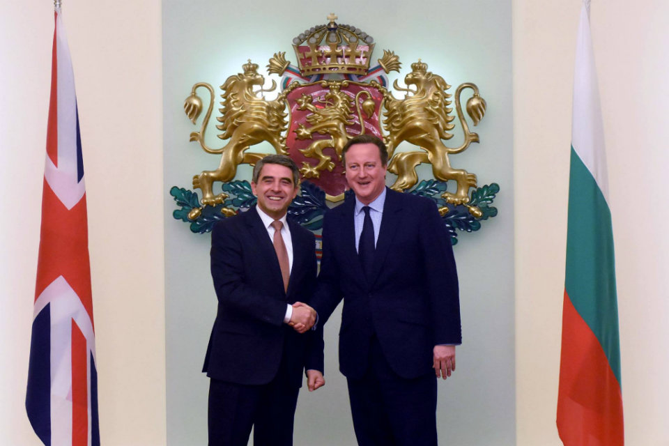 Prime Minister David Cameron and Bulgarian President Rosen Plevneliev discussed the benefits of the EU reform.