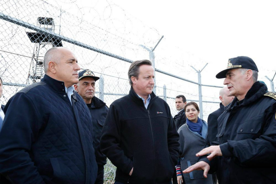 Prime Minister David Cameron and Prime Minister Boyko Borissov visited the Bulgarian-Turkish border and discussed the ongoing cooperation on security.