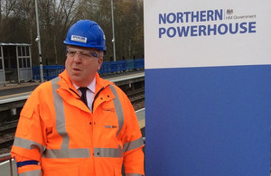 Transport Secretary Patrick McLoughlin at Kirkstall Forge train station.