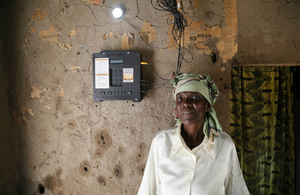An M-Power Off Grid Electric customer in Tanzania.