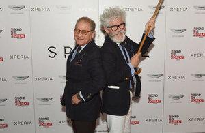 Architects Oscar Ríos and Federico Sánchez at Bond movie premiere.