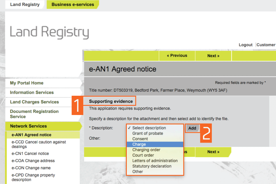 land registry The title register shows key property and ownership details such as this company is not affiliated with hm land registry or the uk government |terms.