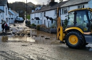 Flood recovery work in Braithwaite