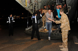 Evacuees from Libya arriving in Malta