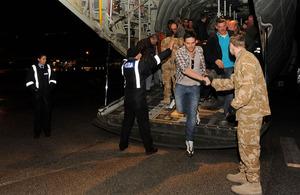 Evacuees from Libya arriving in Malta