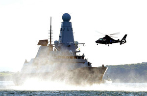 HMS Daring during her FOST training