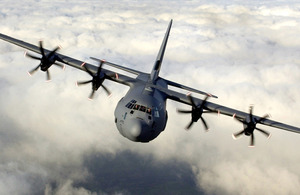 RAF Hercules C-130 transport aircraft