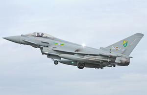 A Royal Air Force Typhoon aircraft