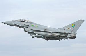A Royal Air Force Typhoon aircraft