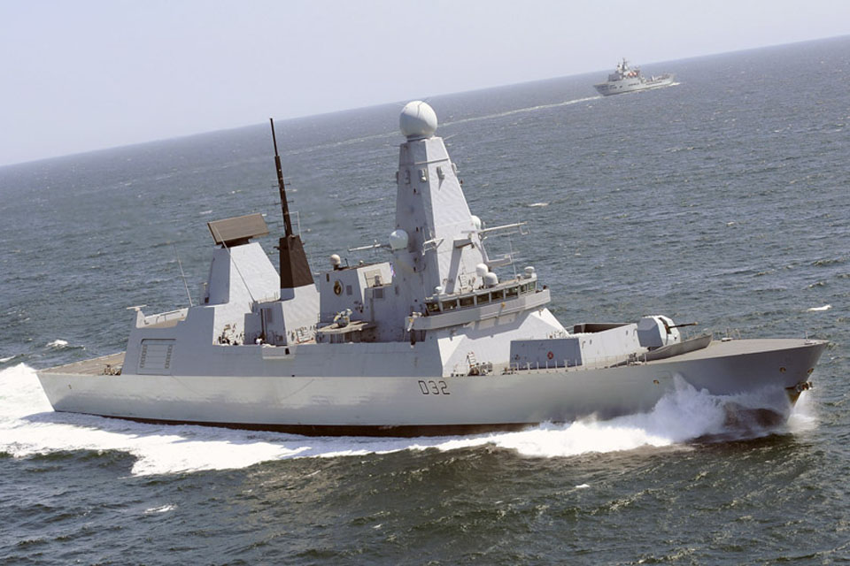 Type 45 destroyer HMS Daring (stock image)
