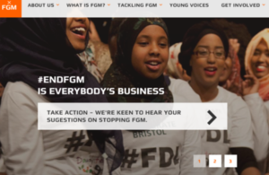 Front page of the #EndFGM is Everybody's Business website