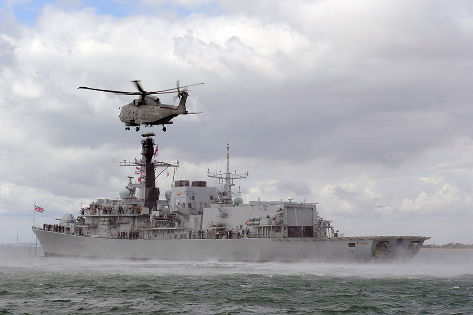 HMS St Albans. Crown Copyright.