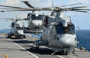 Picture of Merlin helicopter