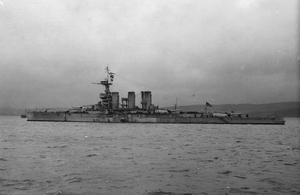 HMS TIGER after Jutland, 1916.
