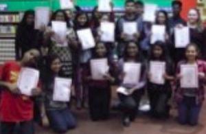 Young code club volunteers in Harrow