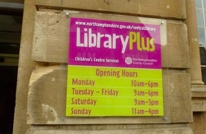 LibraryPlus sign