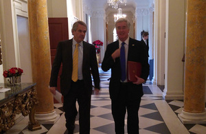 Defence Secretary Michael Fallon and Ambassador Westmacott