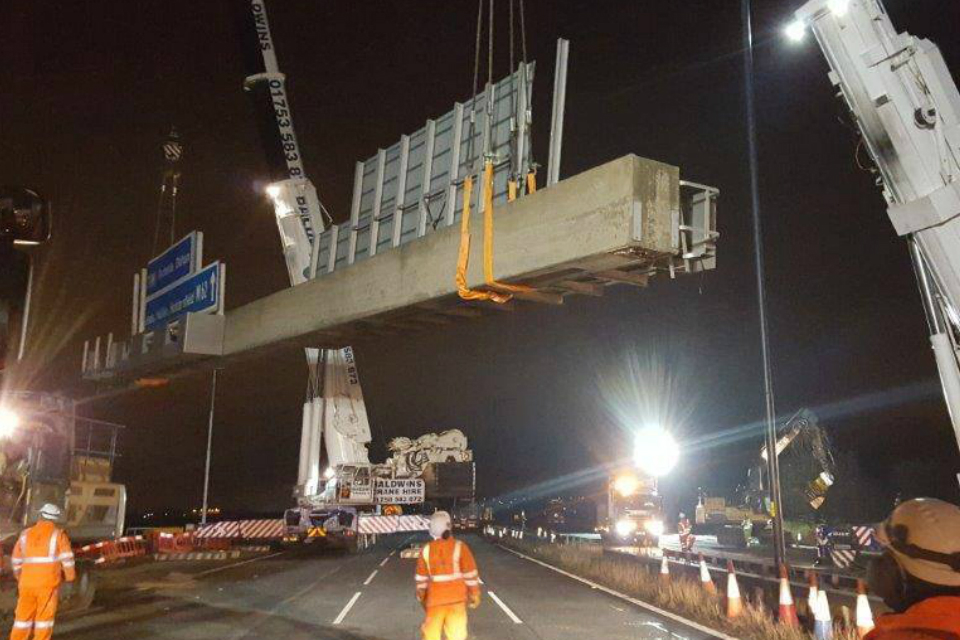 M62 gantry removal