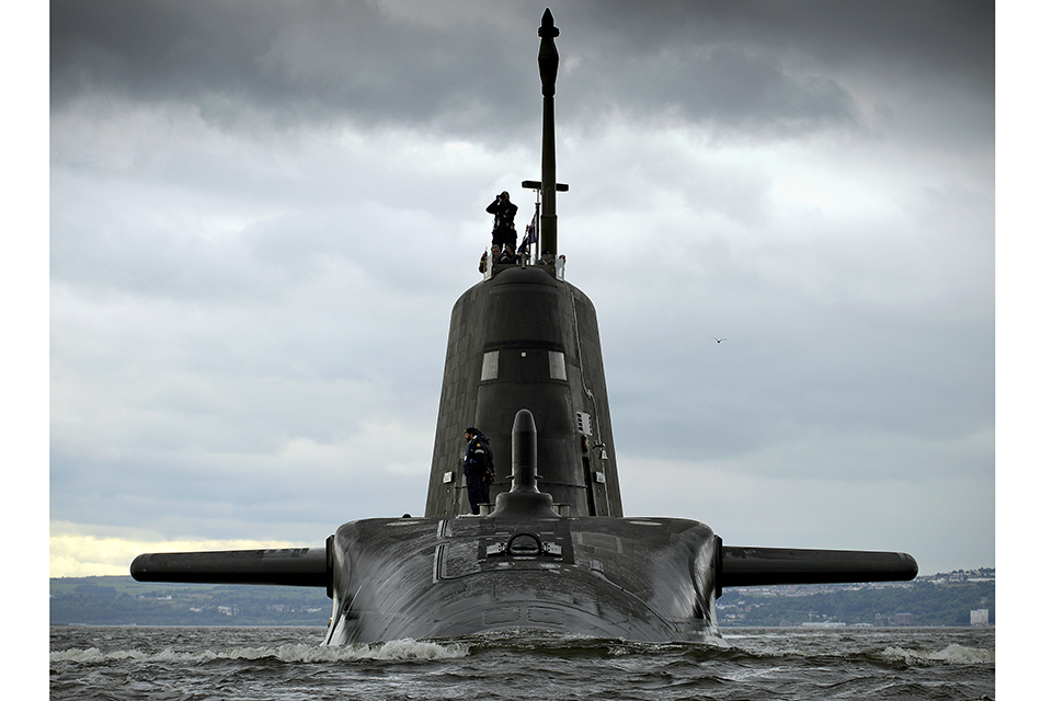 HMS Artful. Crown Copyright.