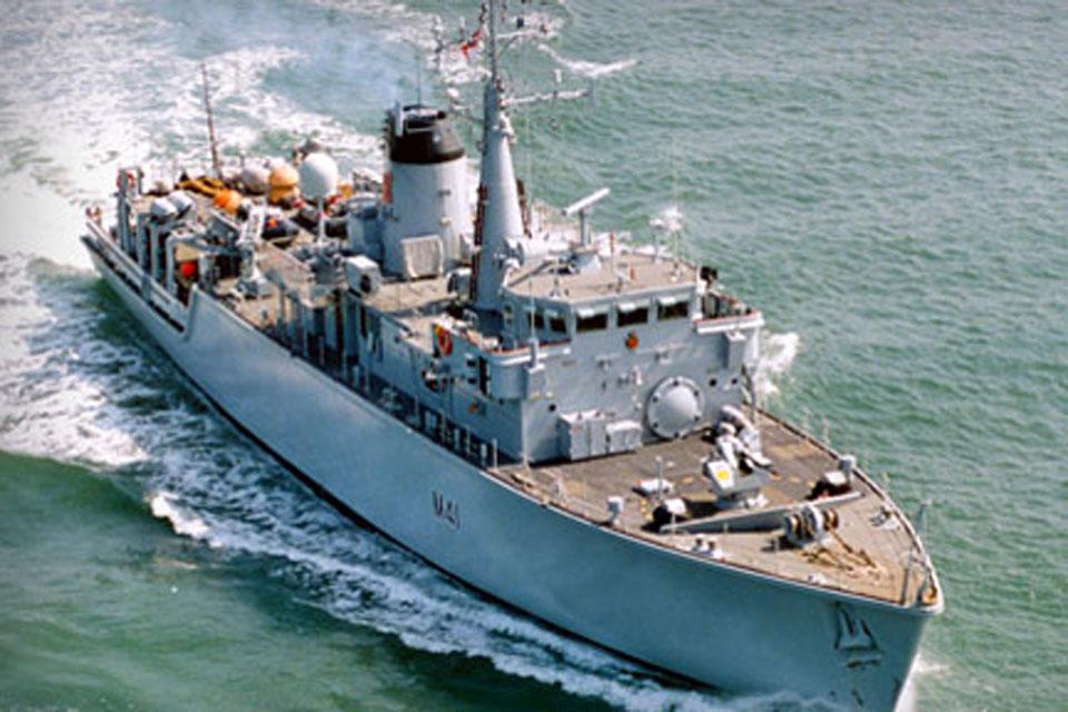 HMS Quorn in Qatar