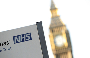Image of NHS sign in Westminster London