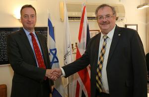 British Ambassador to Israel David Quarrey at Bar Ilan University
