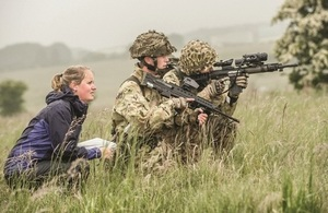 Dstl scientist working with the military