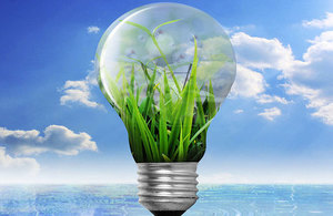 Green shoots lightbulb