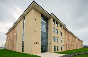 New living accommodation built under Project SLAM at RAF Brize Norton. Crown copyright