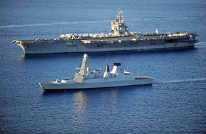 HMS Daring and the United States Navy aircraft carrier USS Enterprise