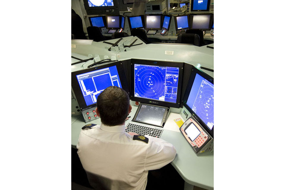 The operations room onboard HMS Daring (stock image)