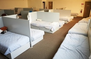 This picture shows a homeless hostel