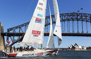 Clipper yacht in Sydney harbour