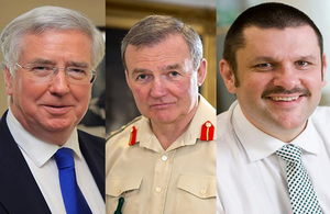 Secretary of State for Defence, Chief of the Defence Staff and MOD Permanent Secretary