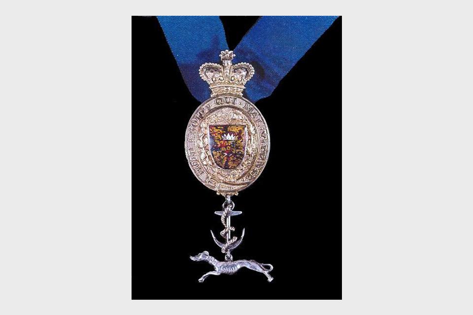 Admiralty Messenger's Badge 1824/5