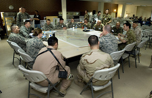 International teams gather at HQ ISAF Joint Command in Kabul