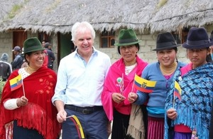 Ambassador Mullee visiting Quilotoa Project