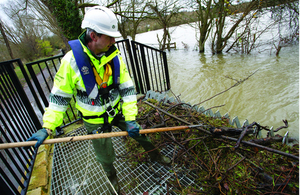Environment Agency Officer clearing culverts
