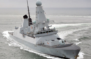 HMS Diamond, the Royal Navy's third Daring Class destroyer to be built by BAE Systems in Govan