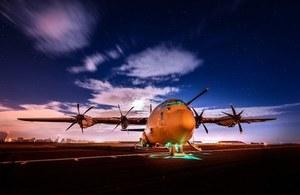 A C130J Hercules aircraft