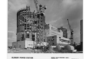 Oldbury nuclear power station construction, 1965