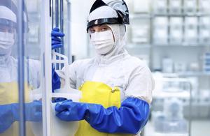Cleanroom worker