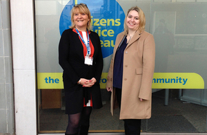 Karen Bradley at Harlow Citizens Advice