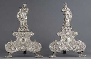 Silver andirons - export bar
