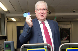 Transport Secretary visits Gatwick Airport to launch Oyster and contactless payments.