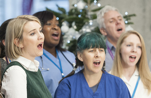 NHS Choir. Copyright PA.